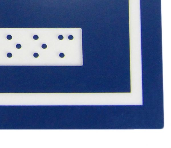 963 – FEMALE/WHEELCHAIR SYMBOL WITH BRAILLE EMBOSS - National Washroom Supply