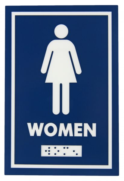 961 – FEMALE SYMBOL WITH BRAILLE EMBOSS - National Washroom Supply