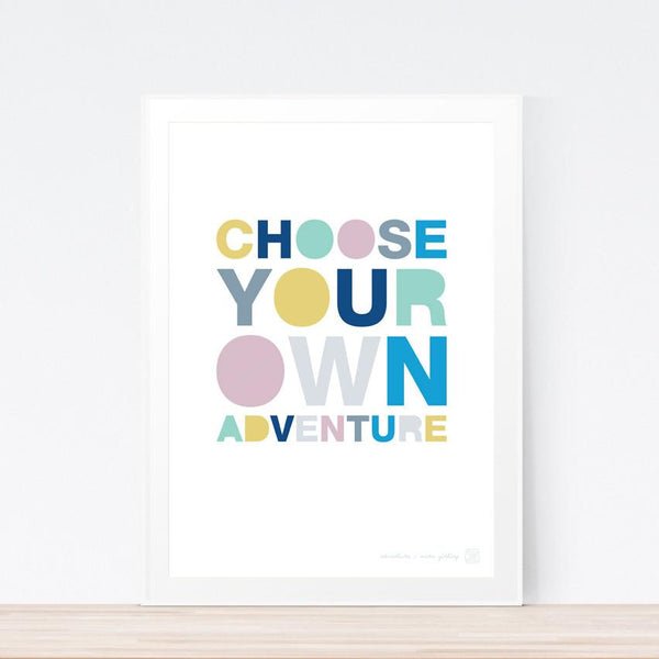 'Choose Your Own Adventure' art print