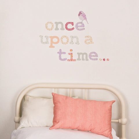 Alphabet Girly Fabric Wall Stickers