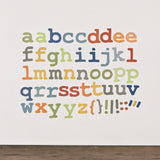 Alphabet Nautical Fabric Wall Stickers