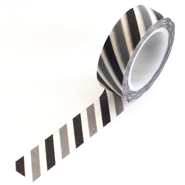 washi tape - black and grey stripes