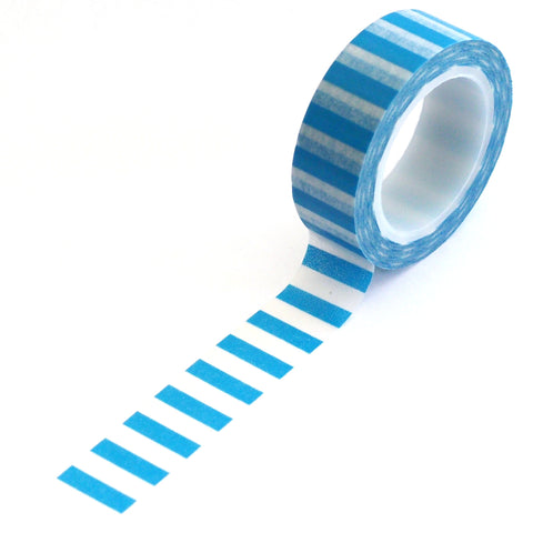 washi tape - bright blue stripes