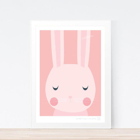 'Goodnight Bunny' art print
