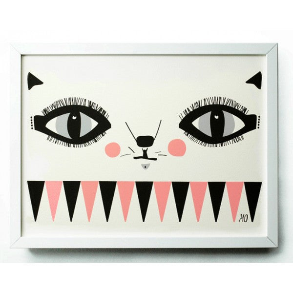 cat face poster (a3)