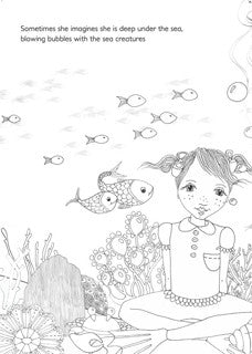 'isabel likes to day dream' colouring book