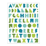 alphabet letters fabric decals (cool)