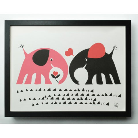 elephant love poster (a3)