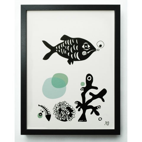 fish mint poster (a3)