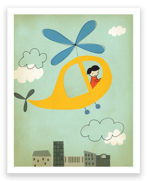 'flying' art print