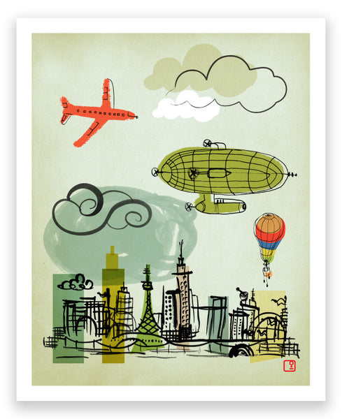 'flying machines' art print