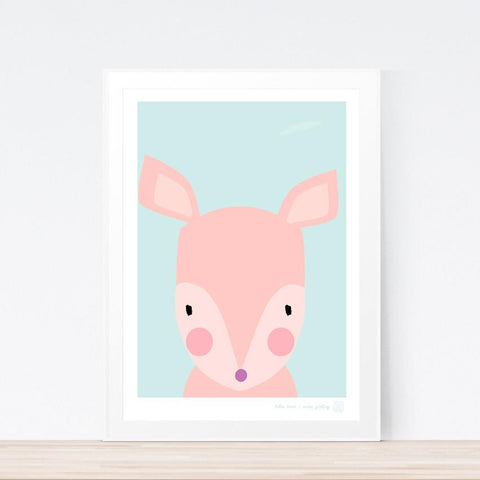 'Hello Deer' art print