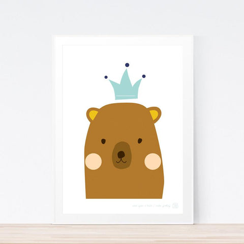 'Once Upon A Bear' (brown) art print