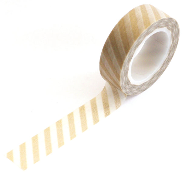 washi tape - gold stripes
