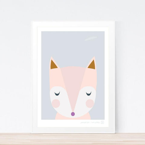 'Goodnight Fox' art print