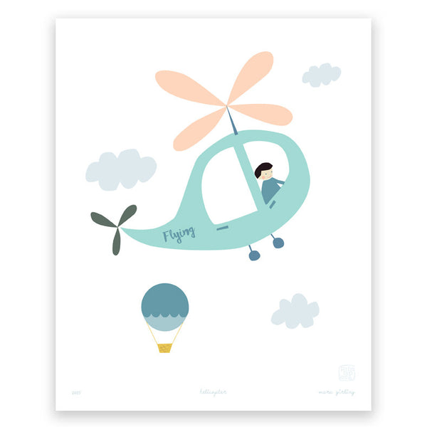 'Helicopter' art print