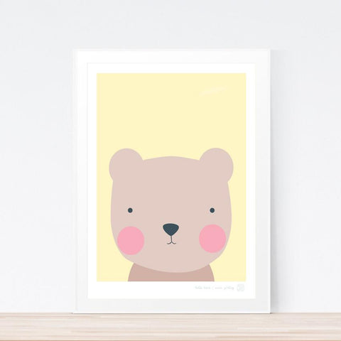 'Hello Bear' art print
