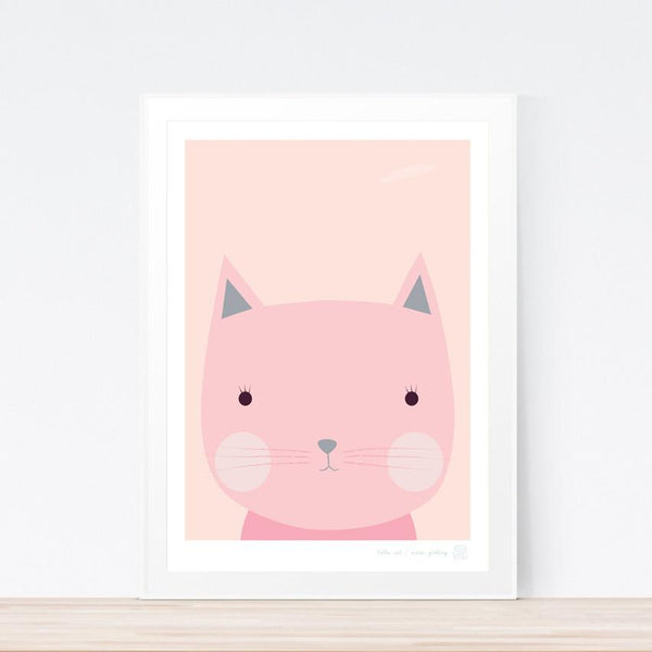 'Hello Cat' art print