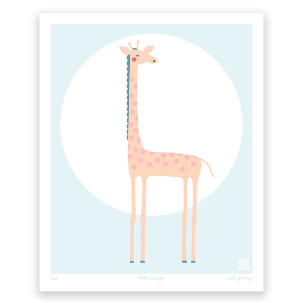 'Little Giraffe' art print