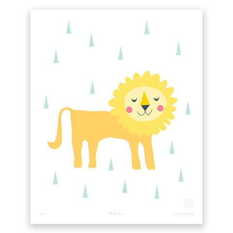 'Little Lion' art print