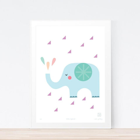 'Little Elephant' art print