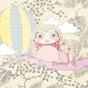 'mama and baby owl' mini card