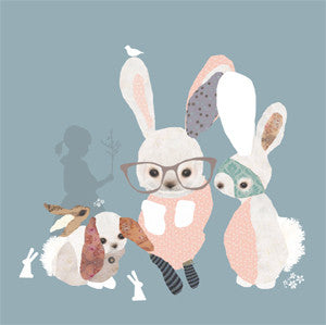 'bunny business' mini card
