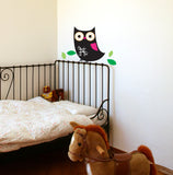 chalk owl wall decal
