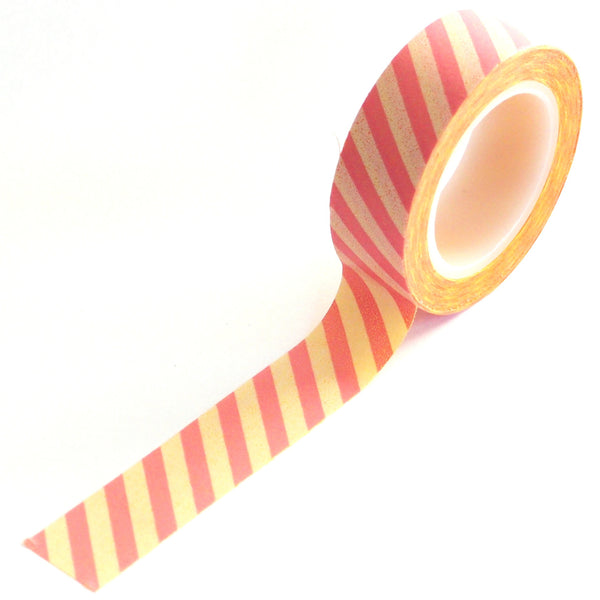 washi tape - peaches & cream stripes