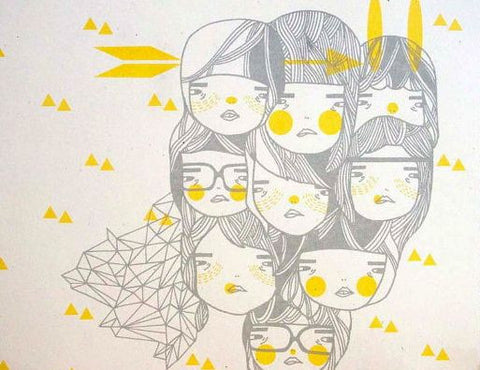 girls geometry art print