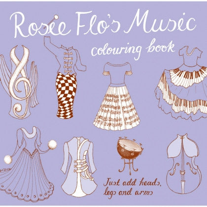 rosie flo's music colouring book