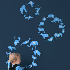 threadless alphabet zoo re-stik wall decal