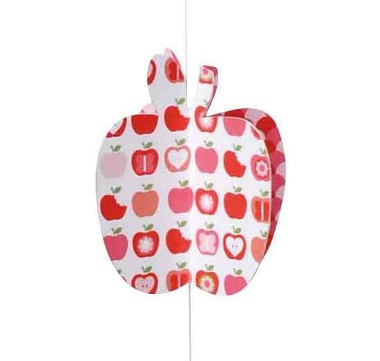 apple paper moon string mobile