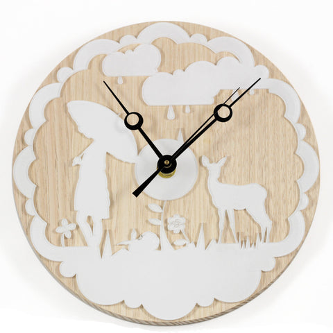 saving for a rainy day wall clock - black
