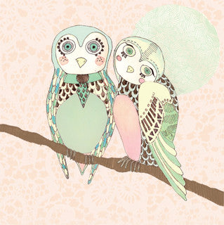 'two owls' small print