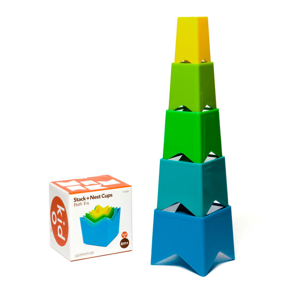 stack and nest cups (cool colours)