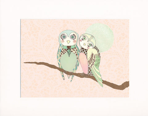 'two owls' print