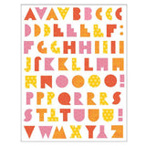 alphabet letters fabric decals (warm)
