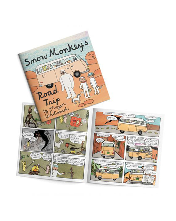 Snow Monkeys Road Trip Comic Book