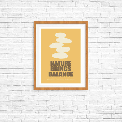 Nature Brings Balance Poster | Parks Project | National Park Posters