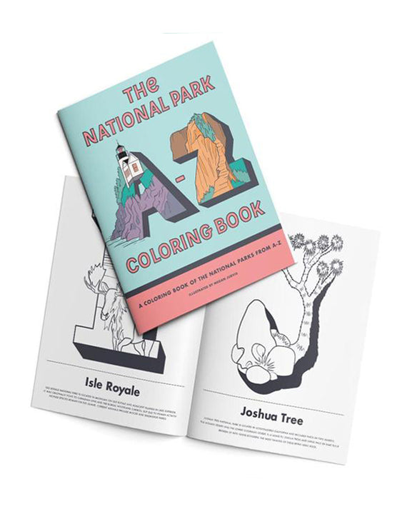 National Parks A-Z Coloring Book | Parks Project | National Park Gifts