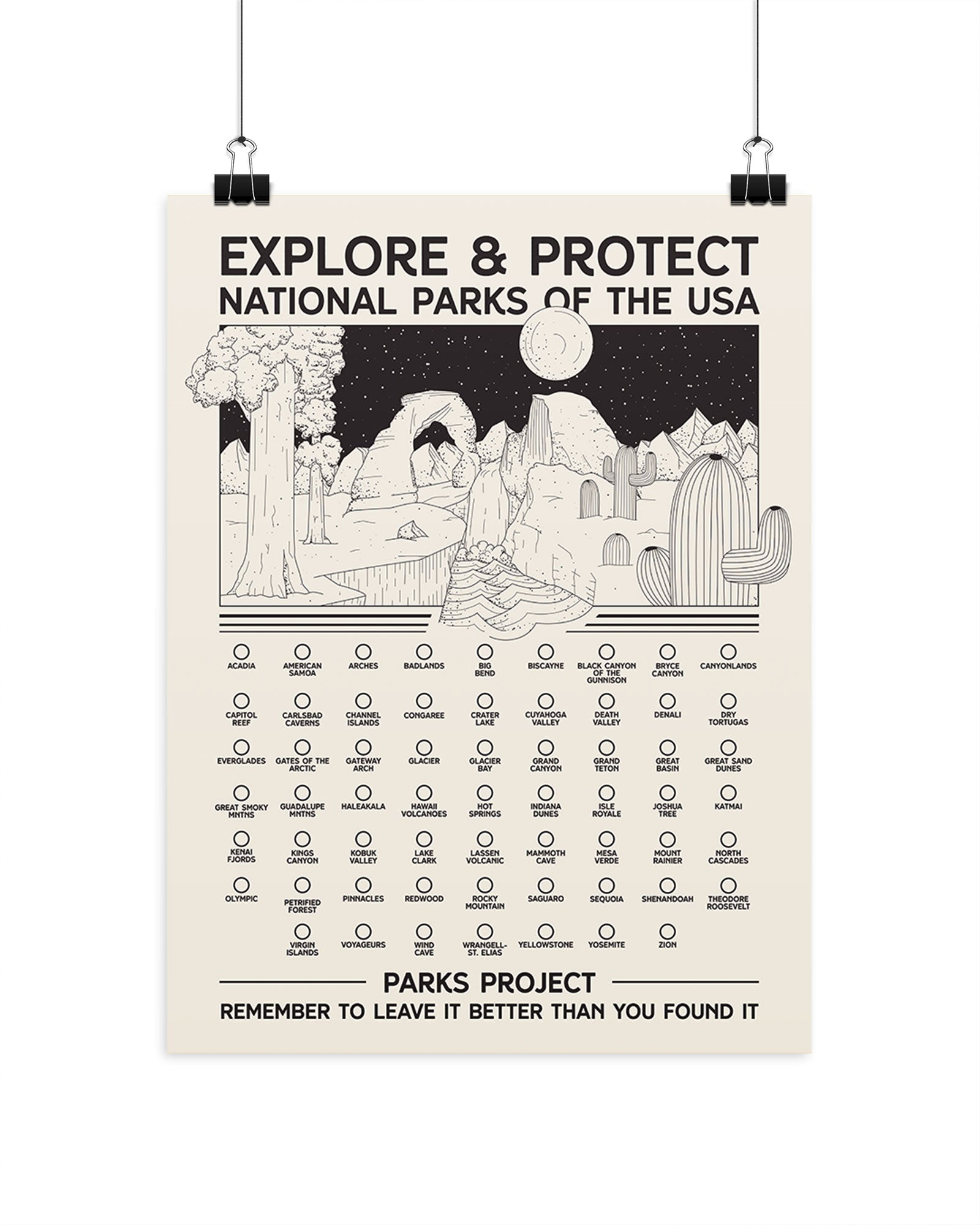 All National Parks Fill-In Poster | Parks Project | National Parks Posters