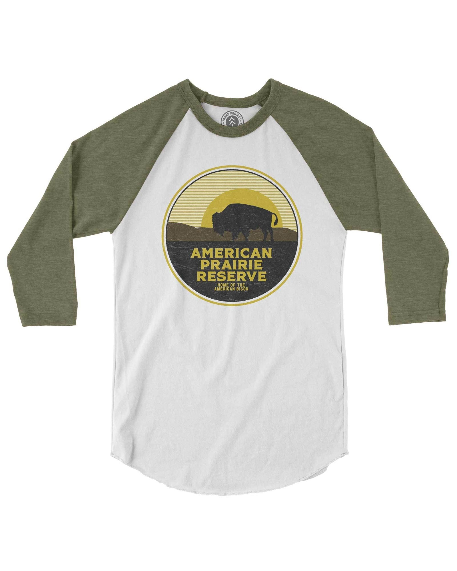 American Prairie Reserve Bison Raglan | Parks Project | National Park Products