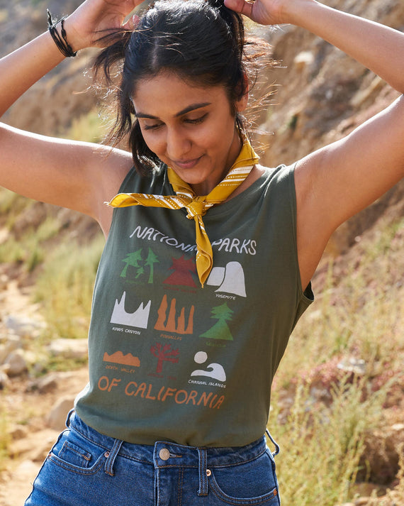 Cali Parks Icons Sleeveless Tank | Parks Project | National Park Tank
