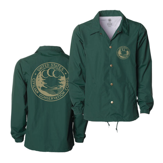 Conservation Corps Vintage Logo Coaches Jacket | Parks Project | National Parks Jacket