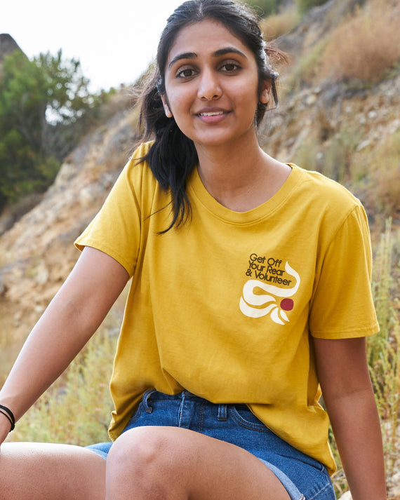 Get Off your Rear & Volunteer Women's Boxy Tee | Parks Project | National Park Women's Tee