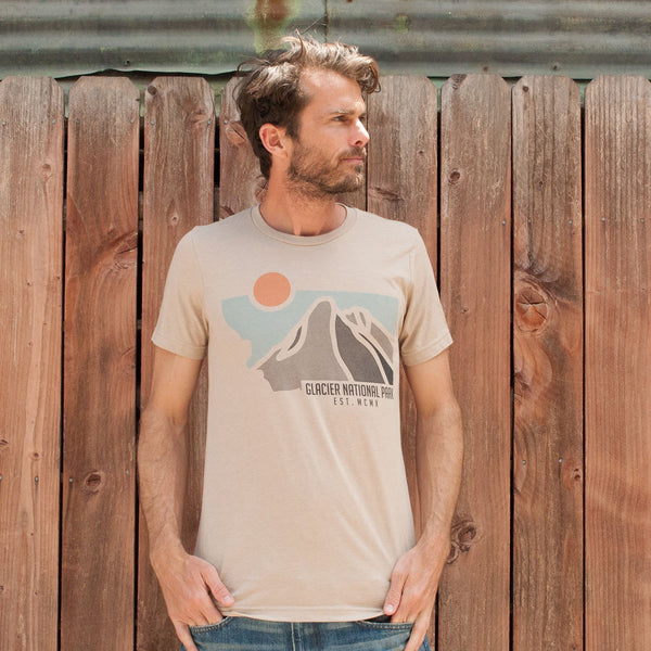 Glacier National Park Established Tee | Parks Project | National Park Shirt