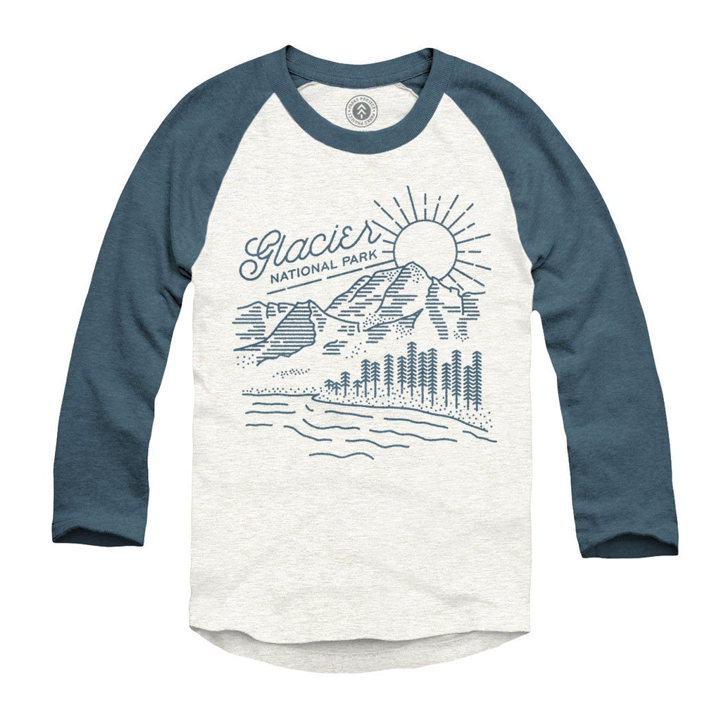 Glacier vista raglan tee parks project national parks for Vista t shirt printing