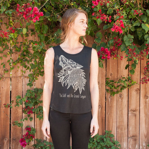 Grand Canyon National Park Wolf Mascot Sleeveless Tank | Parks Project | National Park Gift Shop