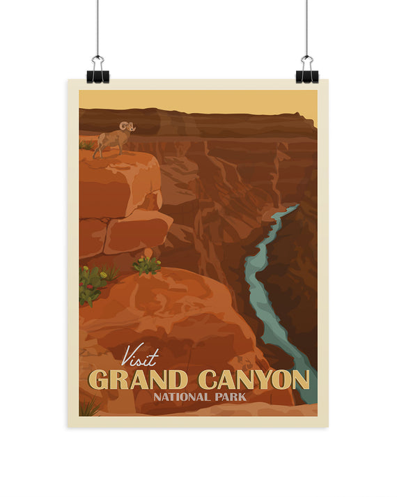 Visit Grand Canyon National Park Poster | Parks Project | National Park Posters